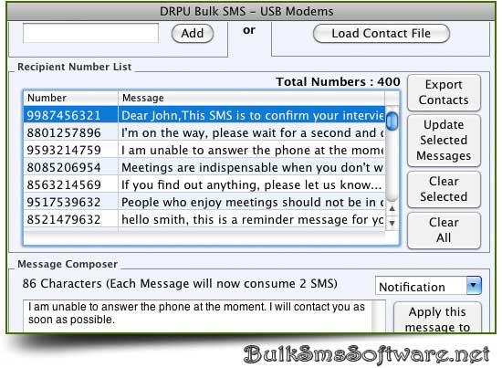Bulk SMS Mac USB Modem