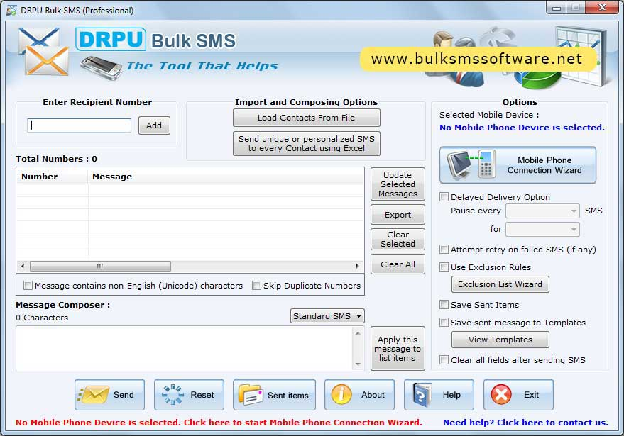 Mass SMS Software