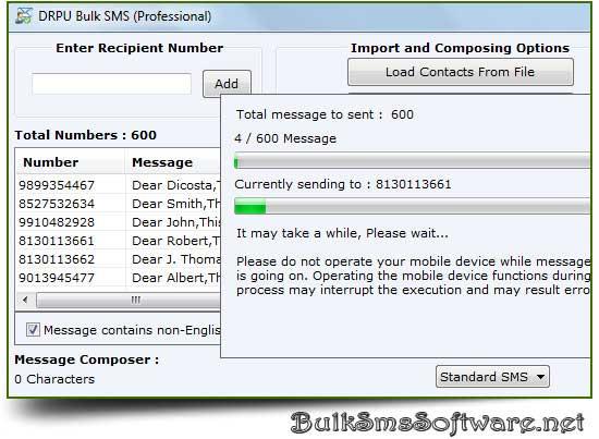 Mobile SMS Sending Software